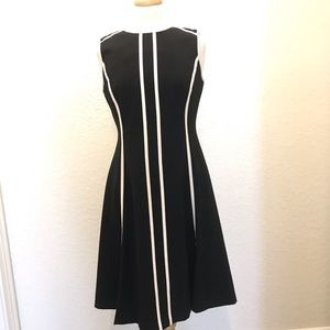 ✨Calvin Klein-Sz-6 - Black and White Dress✨